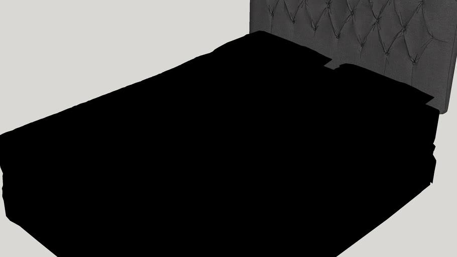 Kara Curved Upholstered Panel Headboard