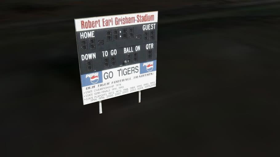 LCHS football scoreboard