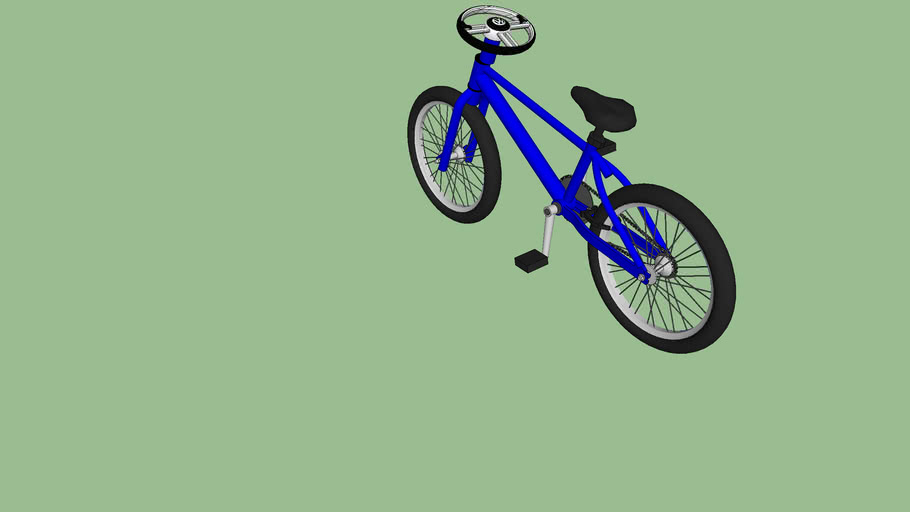 bici con volante de carro