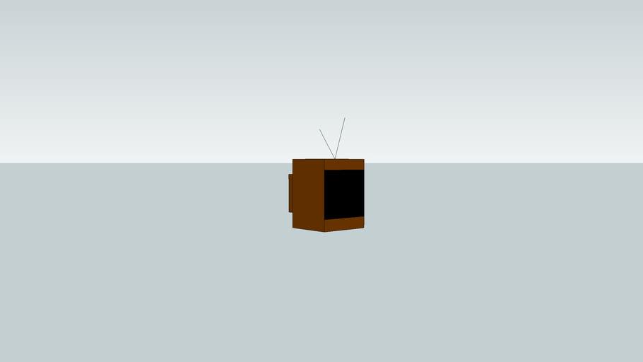 old tv W/ antinas
