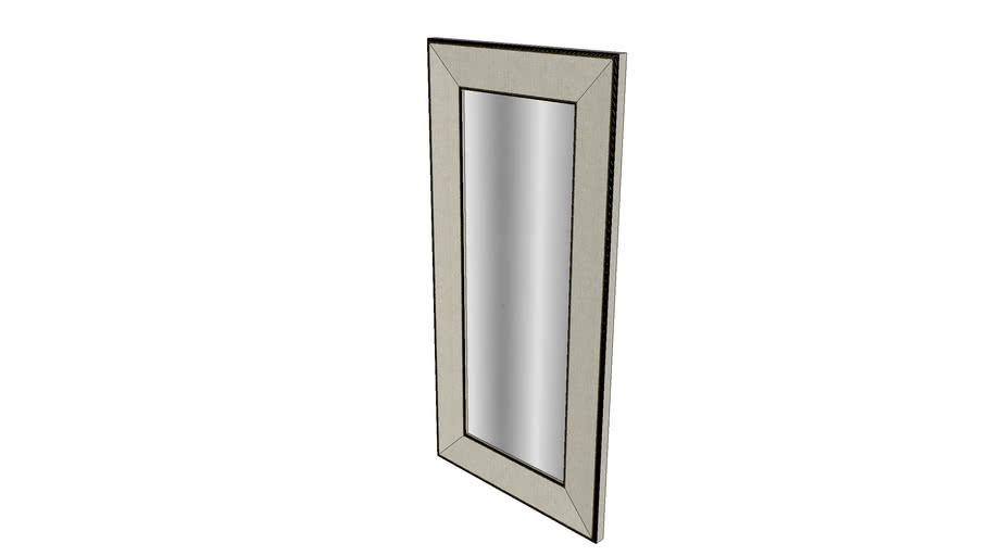 Espelho de chão Long com tecido e tacha G - Kleiner Schein