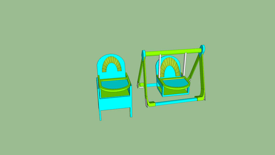 Swing and Matching High Chair