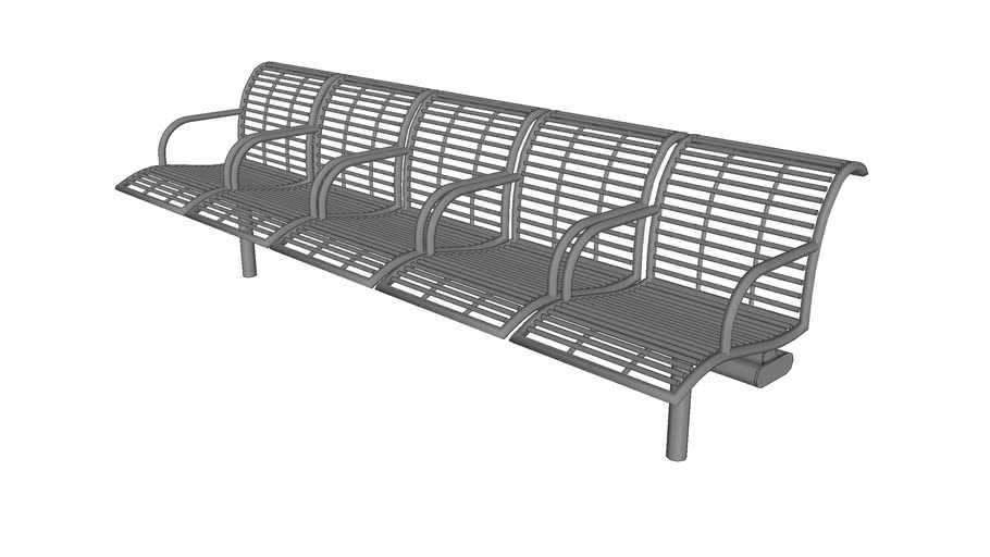 Presidio 5 Seat Bench