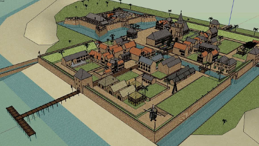 Small colonie town 1675, New Buren (just a picture)