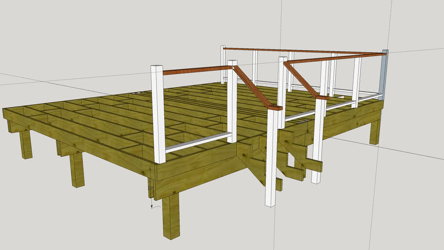 16x20 wood deck frame