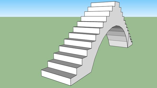 escalera en arco