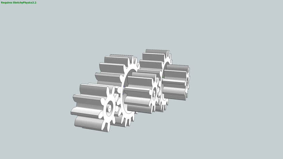 Motorized Involute Spur Gears In Action Using SketchyPhysics 3.2