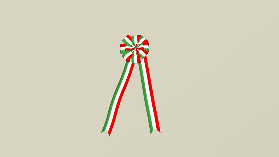 ITALY TAPE COCCARDA TRICOLORE FIOCCHI E NASTRI ITALIA