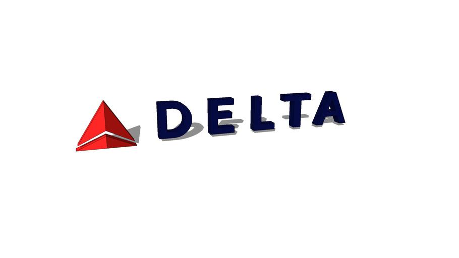 Delta Airlines logo | 3D Warehouse