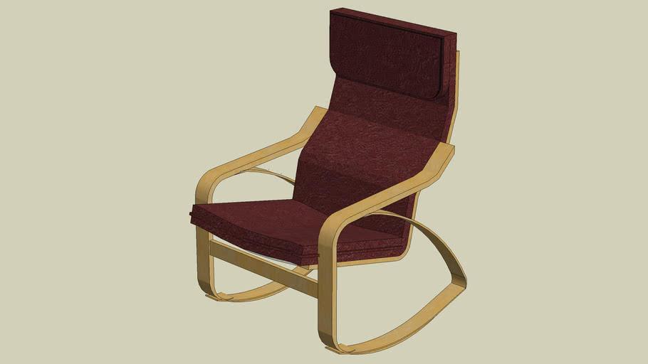 Ikea Poang Draaifauteuil.Rocking Chair Ikea Poang 3d Warehouse