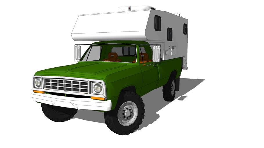 1975 Dodge D200 4x4 Truck Camper