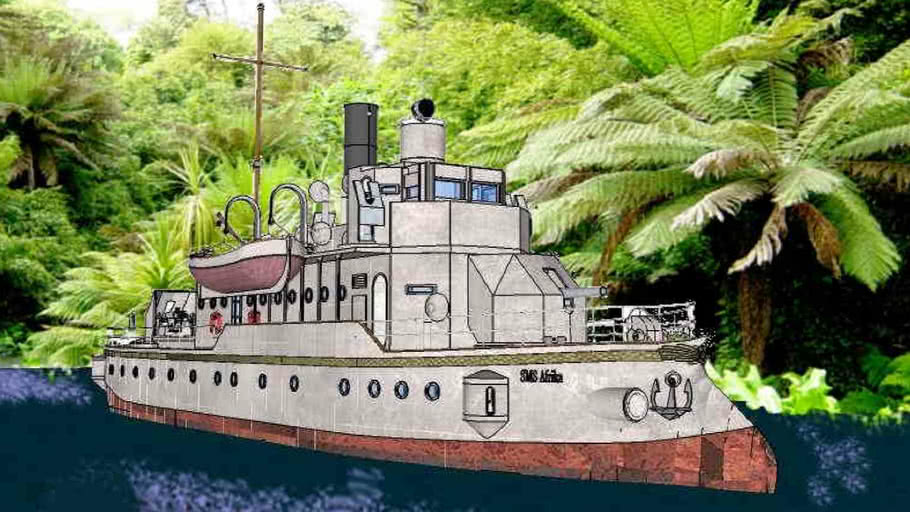 Kaiserliche Marine Kanonenboot SMS Afrika-FULL INTERIOR  part 02 of 04