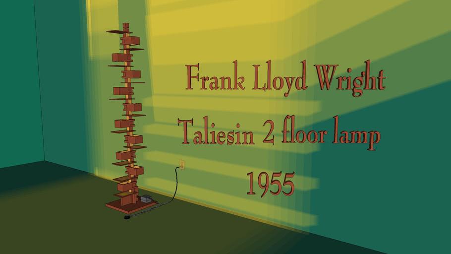Frank Lloyd Wright Taliesin 2 floor lamp