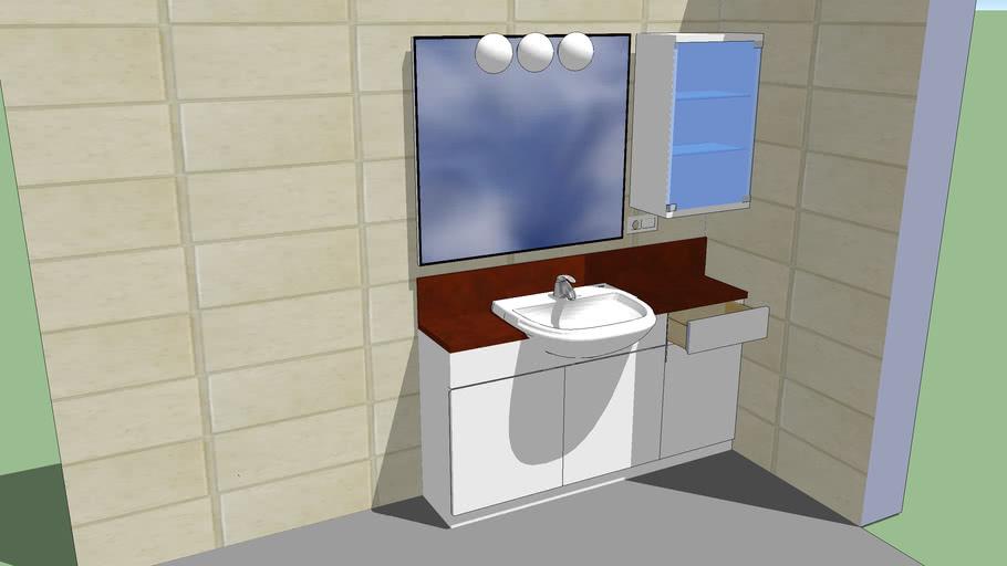 Mueble para lavabo Mod. Dama semiempotrado de Roca