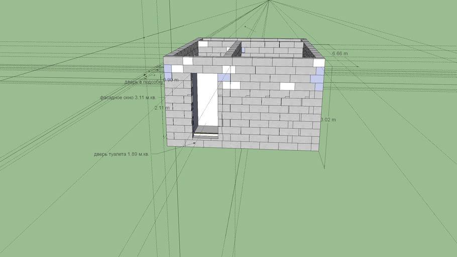 фундамент  + первый этаж газобетон