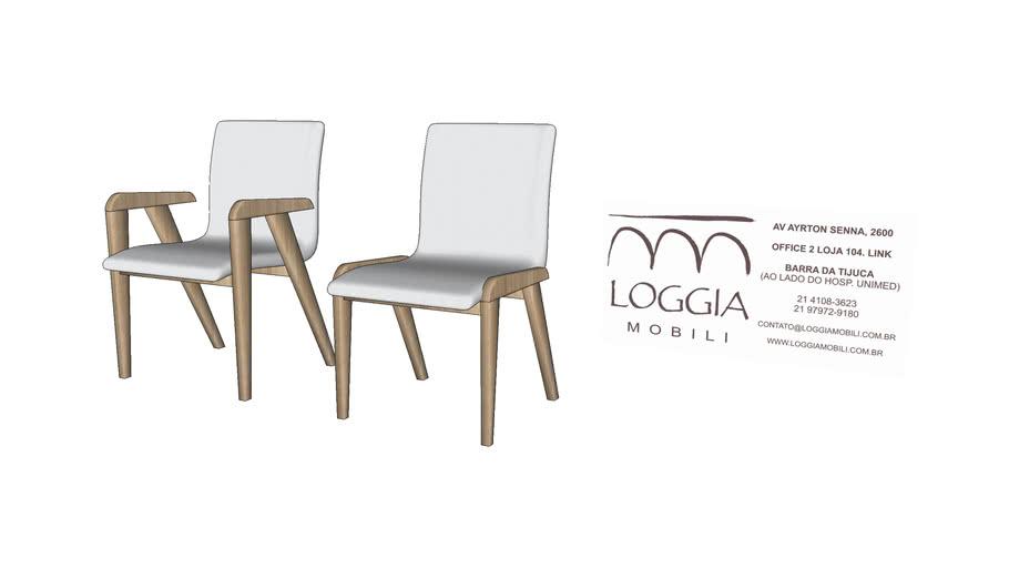 Cadeira Hana TM Loggia Mobili