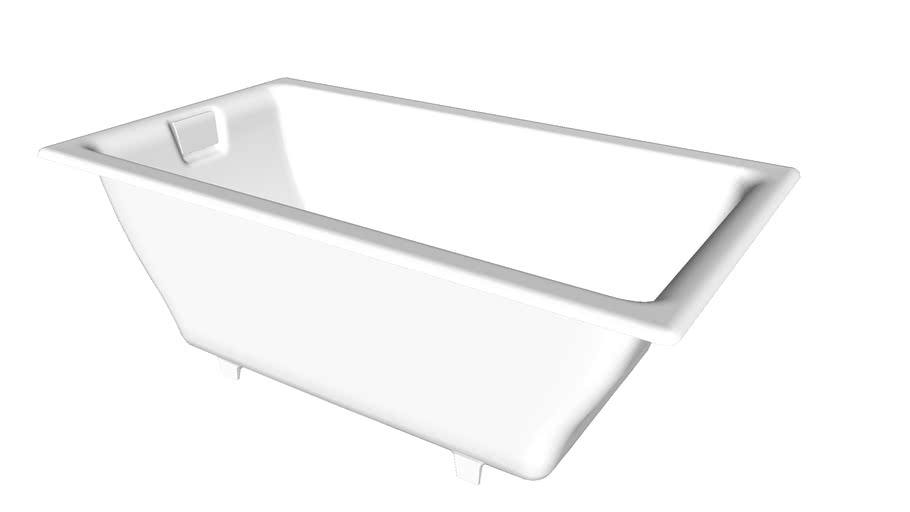 """K-855 Tea-for-Two(R) 66"""" x 36"""" drop-in or under-mount bath"""