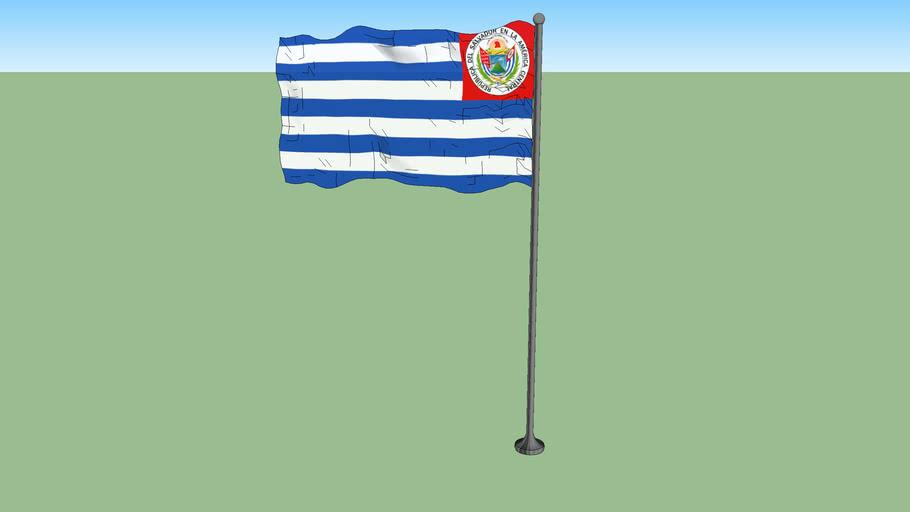Flag of El Salvador 1877-1912