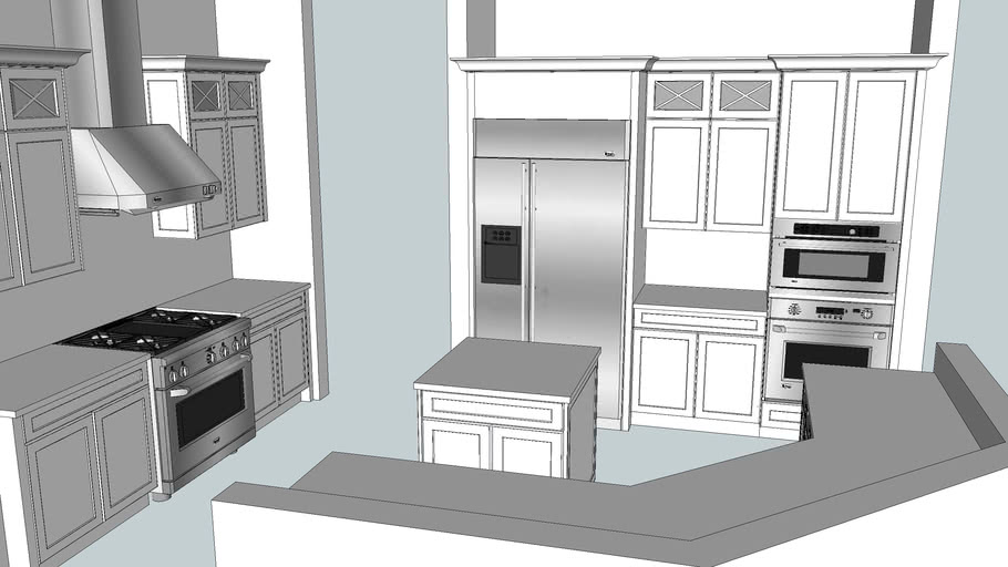 Kitchen with GE monogram