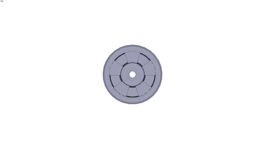 Roue à bandage de polyuréthanne - Type 21...Ø 12mm Ø nominal de la roue de 100mm