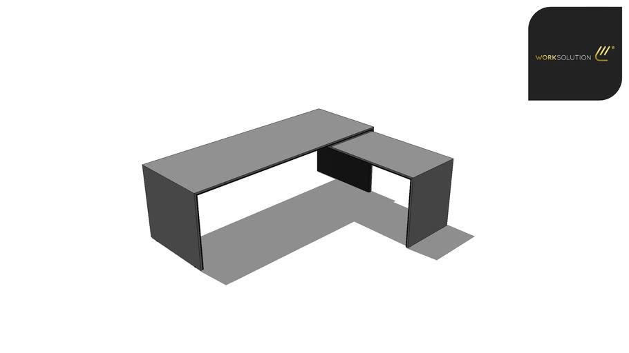 """Mesa """" L """" Pé Painel - 2,20 x 1,80 - Autoportante - Linha WS1000"""