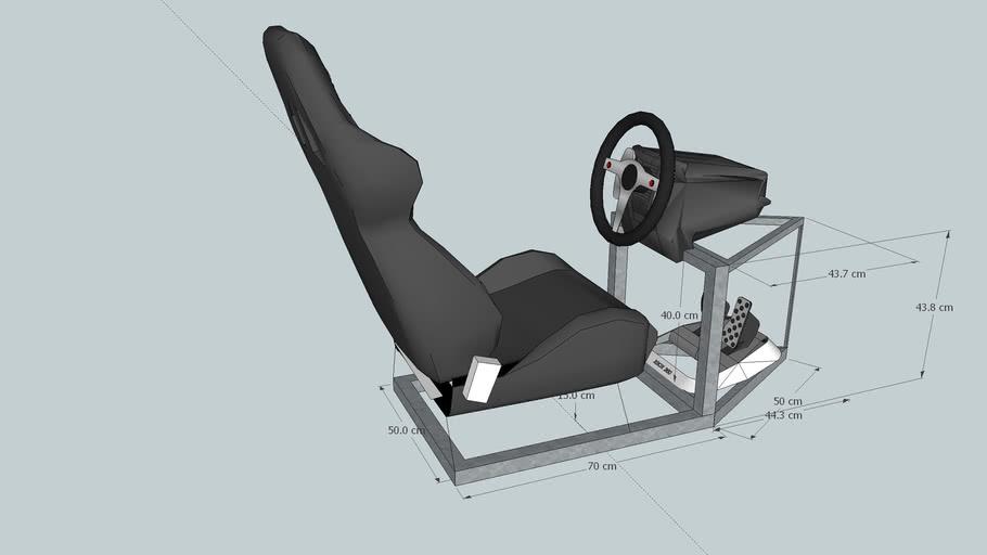 Cockpit for Logitech G25 steering wheel