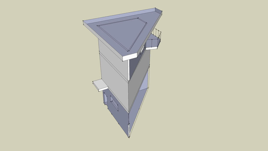 jeff's triangle house - so far...