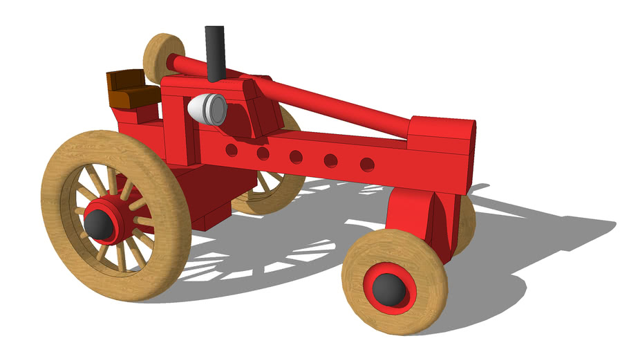 Old Time Toy Garden Tractor