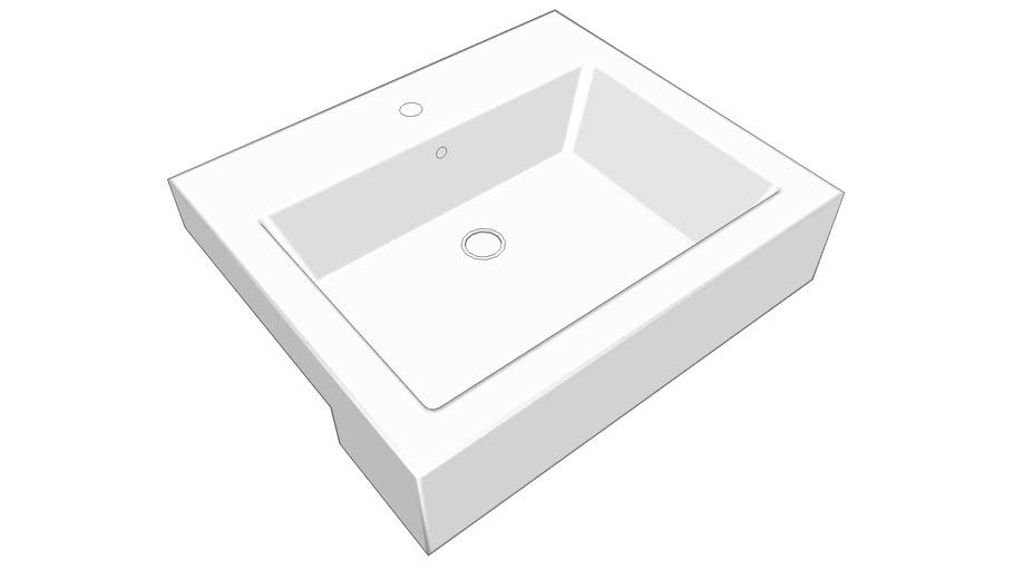 Sink White Stone Quad