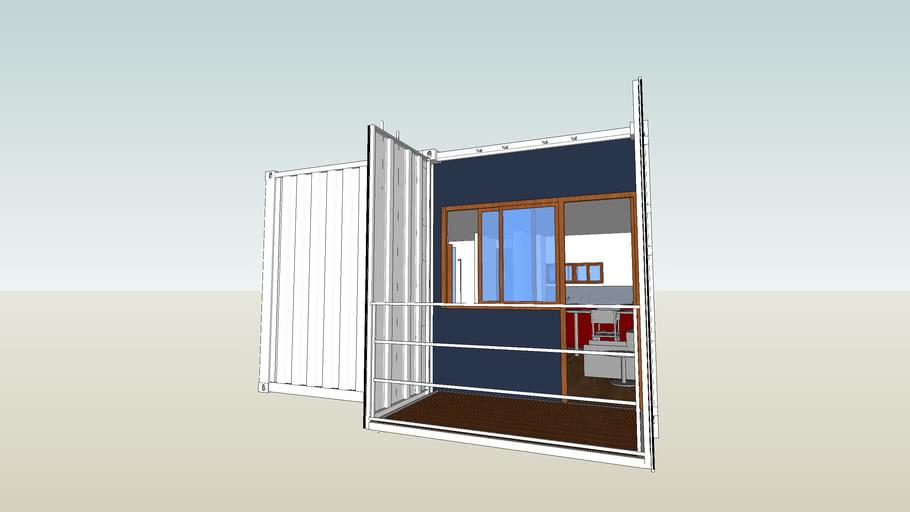 Apartamentos residenciales sobre ISO contenedor marítimo