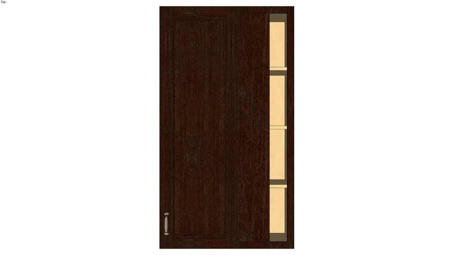 Wall Blind Corner Single Door 54H