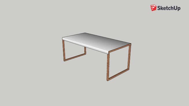 Kilo - Table basse en acier laqué blanc et pieds en chêne - Habitat ...