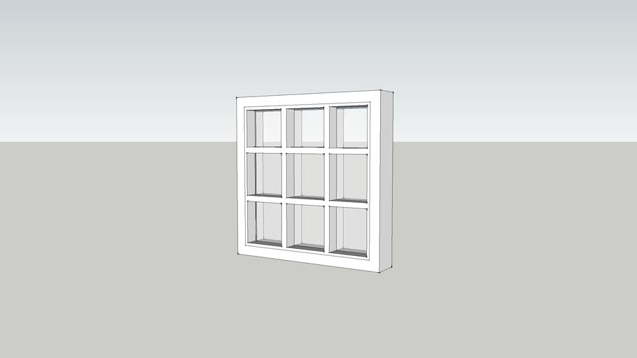 janela de vidro quadriculado