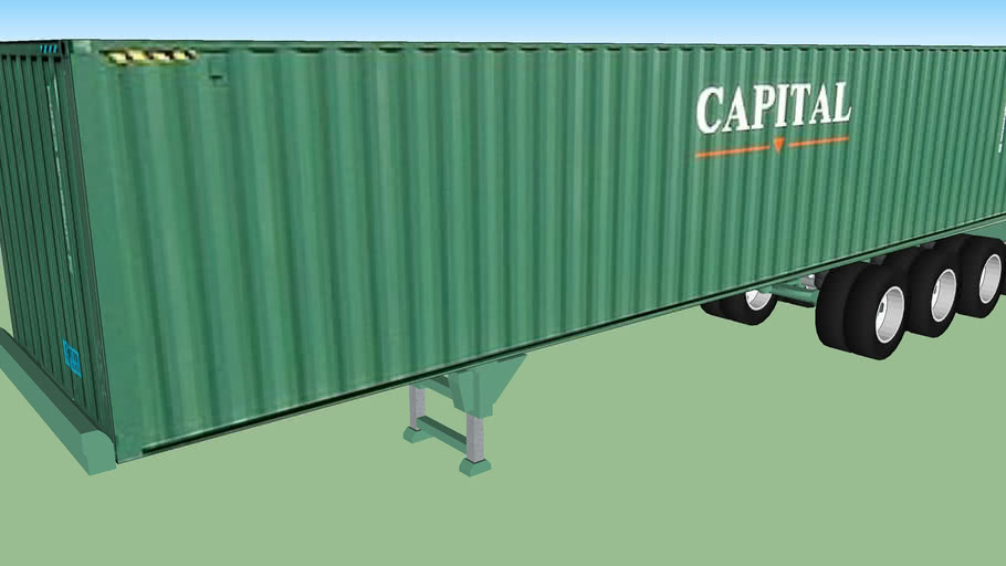 Capital Container 40' On Container Chassie