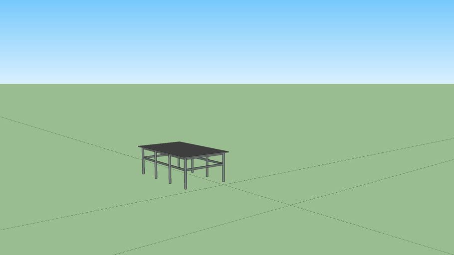 Glass table by mejlgren