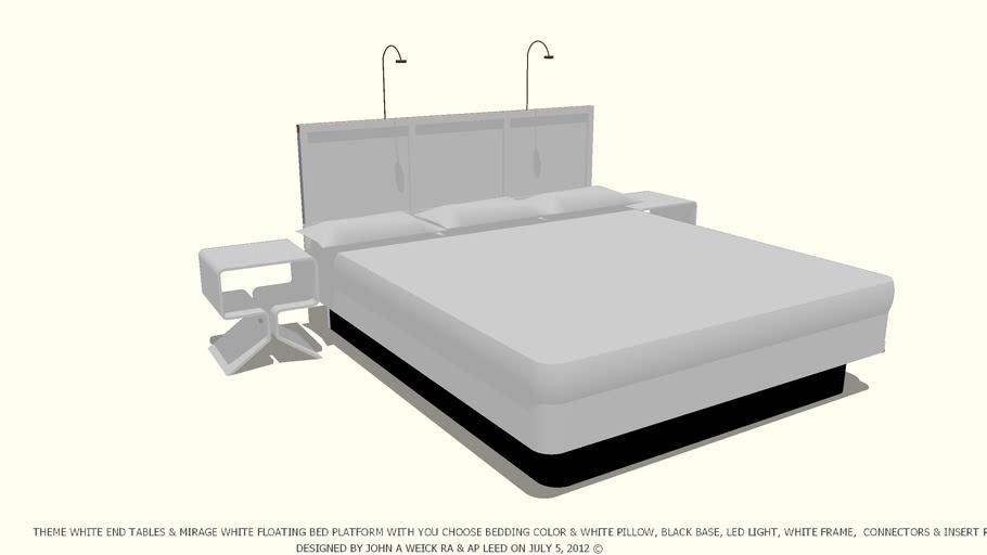 BED WHITE YOU CHOOSE BEDDING COLOR WHITE PILLOWS JOHN A WEICK RA