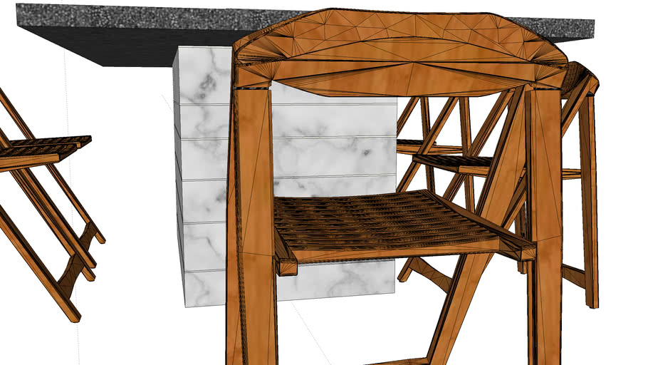 Dining Table with Chair Storage Cabinet (Shantanu. B)