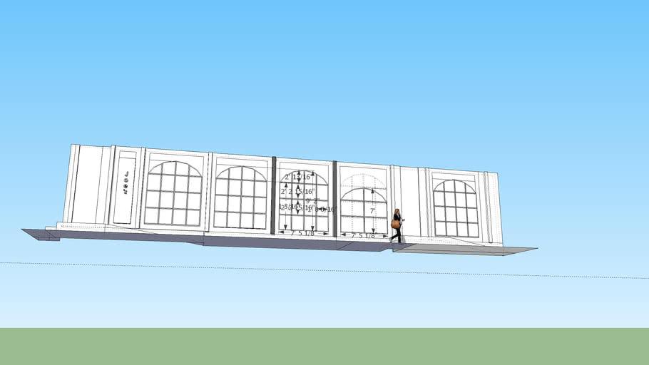 windows first floor new box house