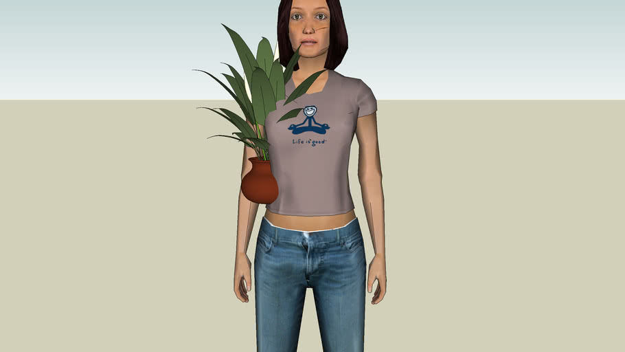 girl plant