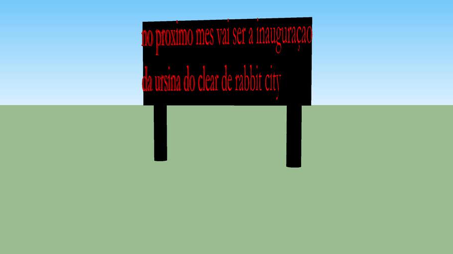 placa da inauguraçao de rabbit city