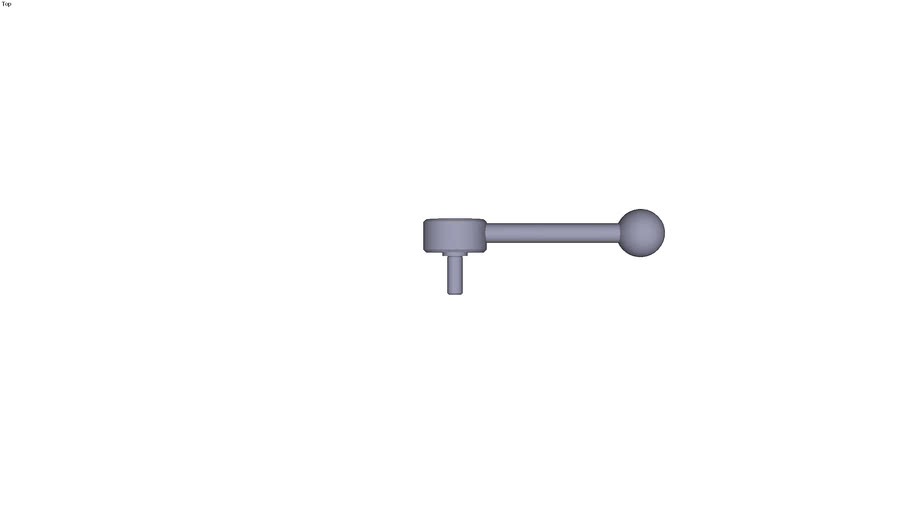 Indexing flat tension lever external...to 0° size 1 M8 threaded rod length 20 mm