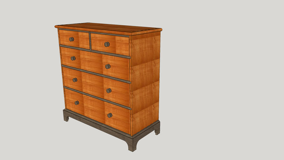 Shaker style 5-Drawer Chest of Drawers