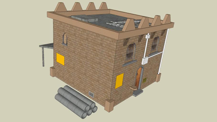 Textured Iraqi house