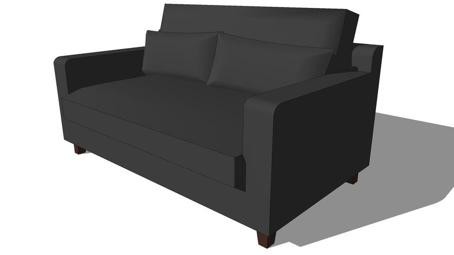 Canapé 2 places fixe ardoise ST REMY, Maisons du monde, 111573, 390€