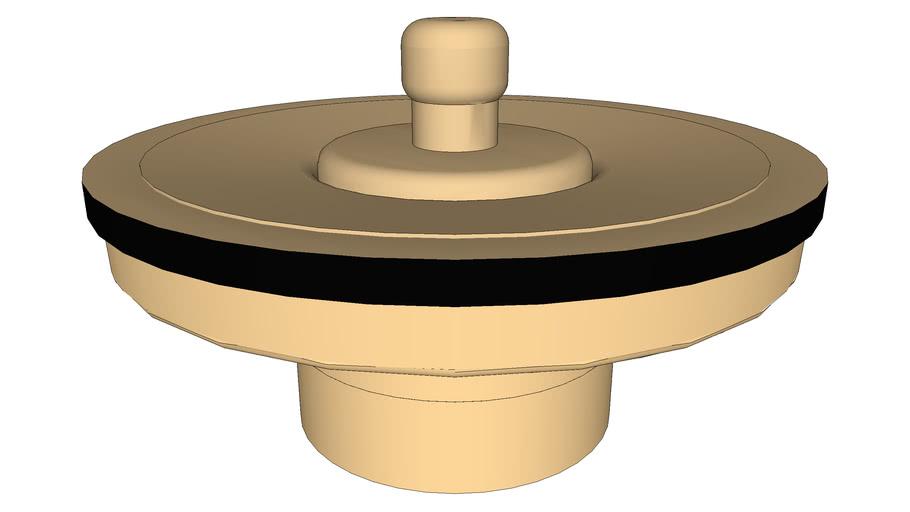 DOCOL - Válvula de saída d'água universal arte com tampa de metal ouro escovado