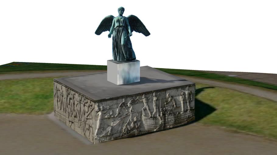 Angel Statue near Harbor in Copenhagen, Denmark