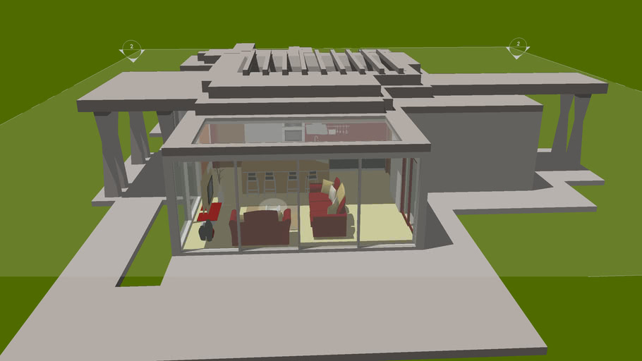 Modern Concrete House Interiors (For Zach)
