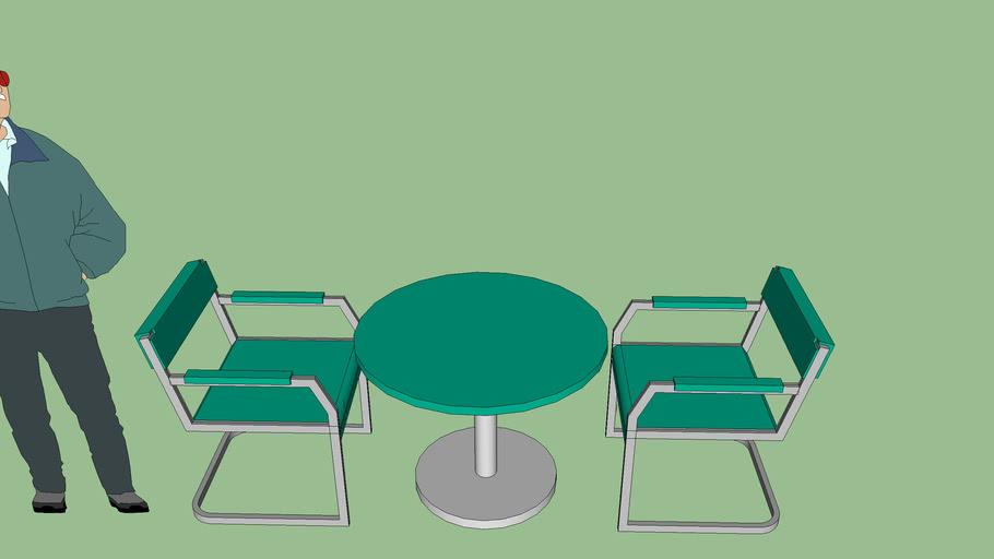 sillas con mesa redonda