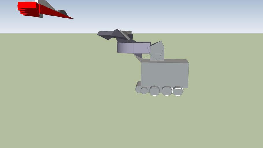 German Tank Destorying French Jet