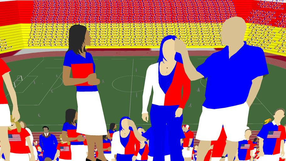a soccer stadium